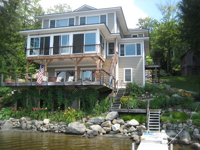 Luxury, lakefront home in NH - Enfield - Casa