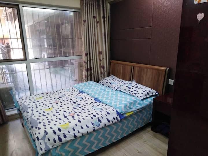 限时抢购大床房。(带洗衣机)