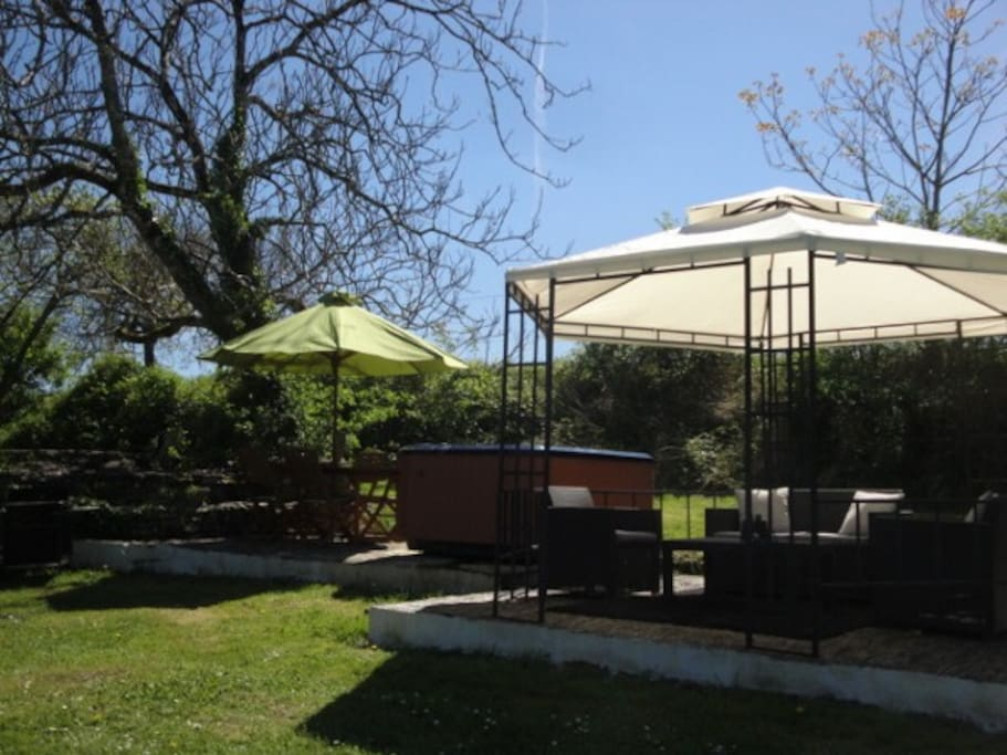 Your private gazebo and garden