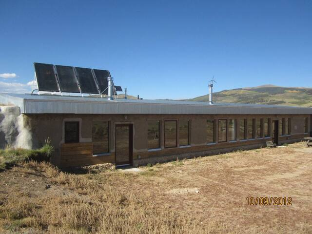 Jefferson Earthship.  Natural off-the-grid home.