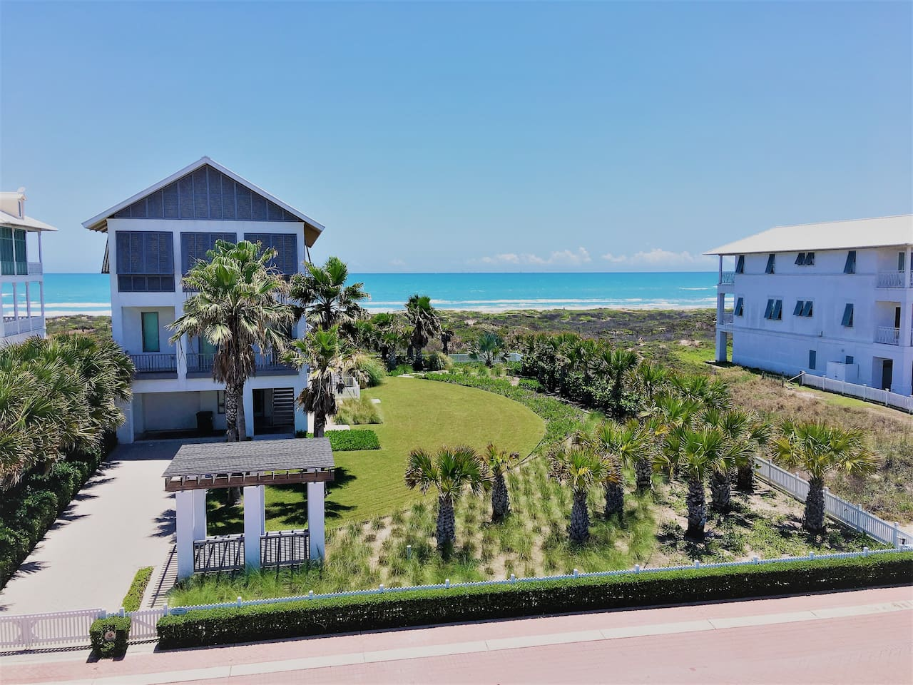"""Beach view from the """"Family Tides"""" house at The Shores"""