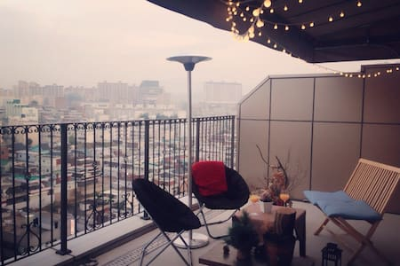 Rooftop style private terrace room - Daegu - Apartment