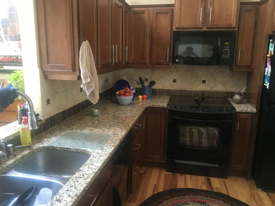 Granite countertops and high end kitchen appliances for cooking all of your meals.