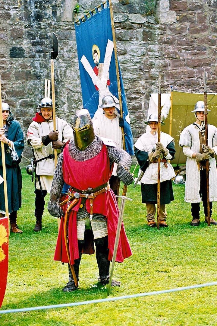 Historical re-enactment at Doune Castle