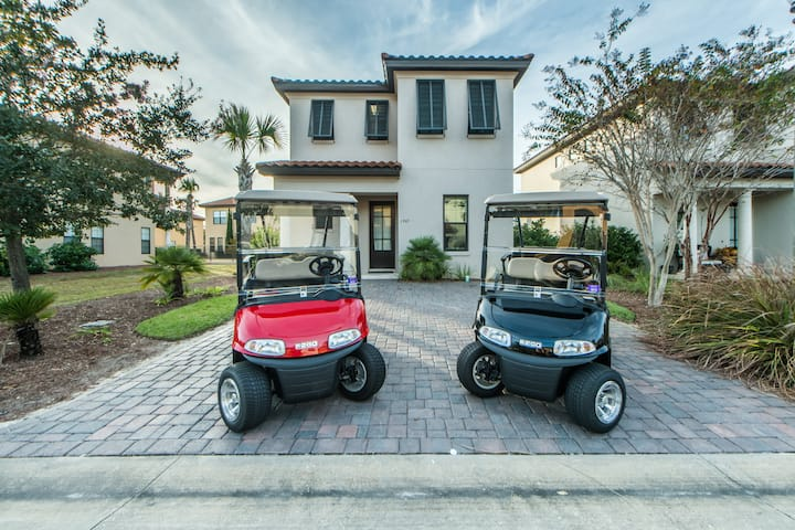 TWO Golf Carts! Community Pools! Events Golf Courses- Near Baytowne Wharf! - Beach Orchid