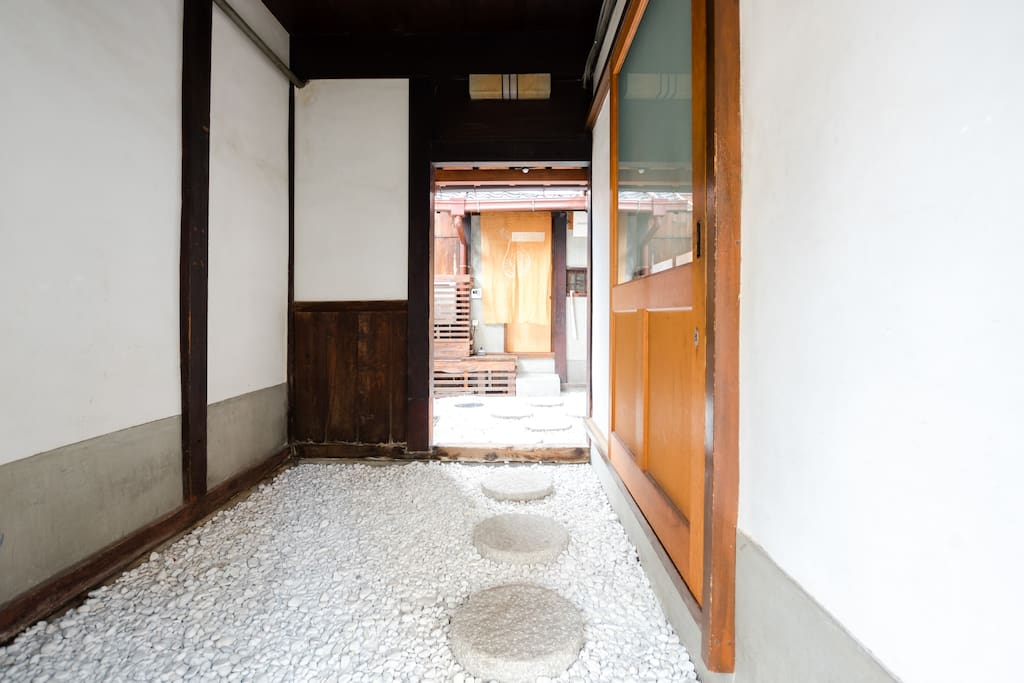 100 year-old Machiya, a traditional wooden townhouse.