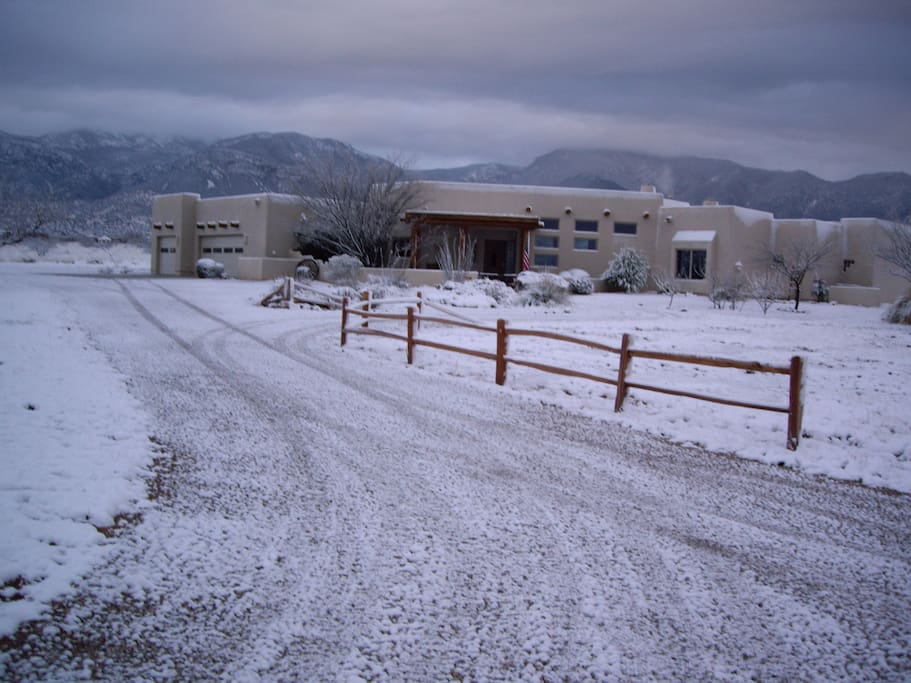 Winter max....it melts by noon!(!!!) RV space on left of house (see The DarkSide for details)