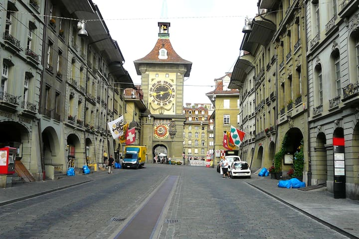 in the middle of the historic town - Berne