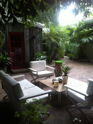 Sitting area outside Garden Suite