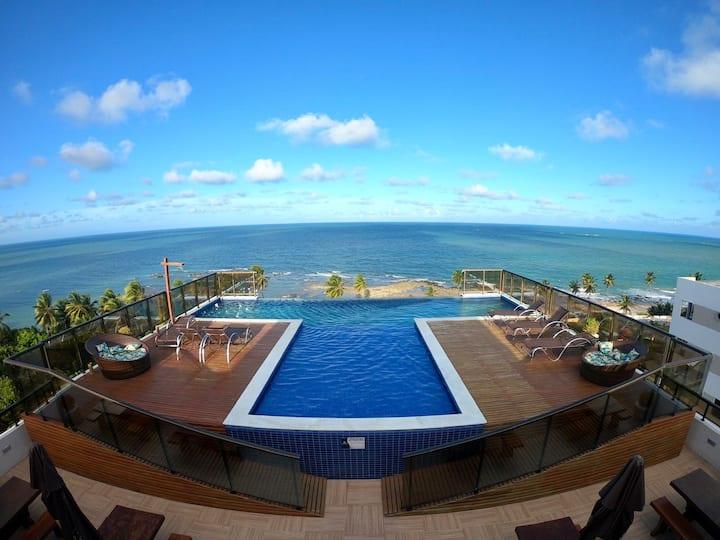 Paraíba, paraíso... Excelente apartamento na praia
