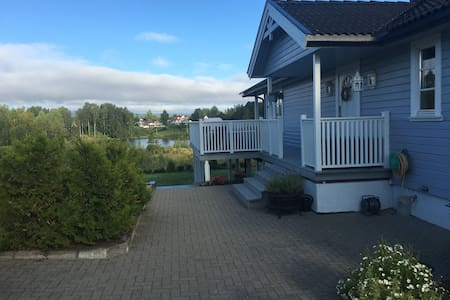 Modern house with beautiful lake view - Elverum
