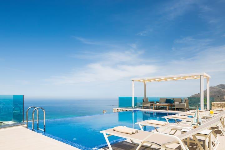Villa Bonsai, breakfast, sea&sunset view, luxury