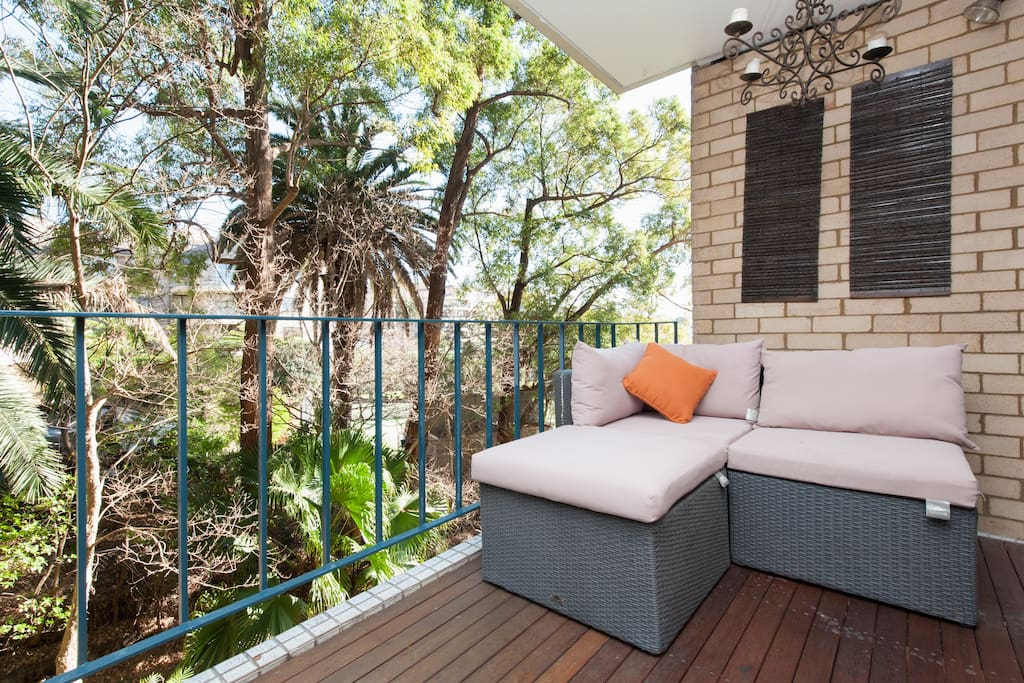 The balcony, a very peaceful place to sit and enjoy the surroundings.
