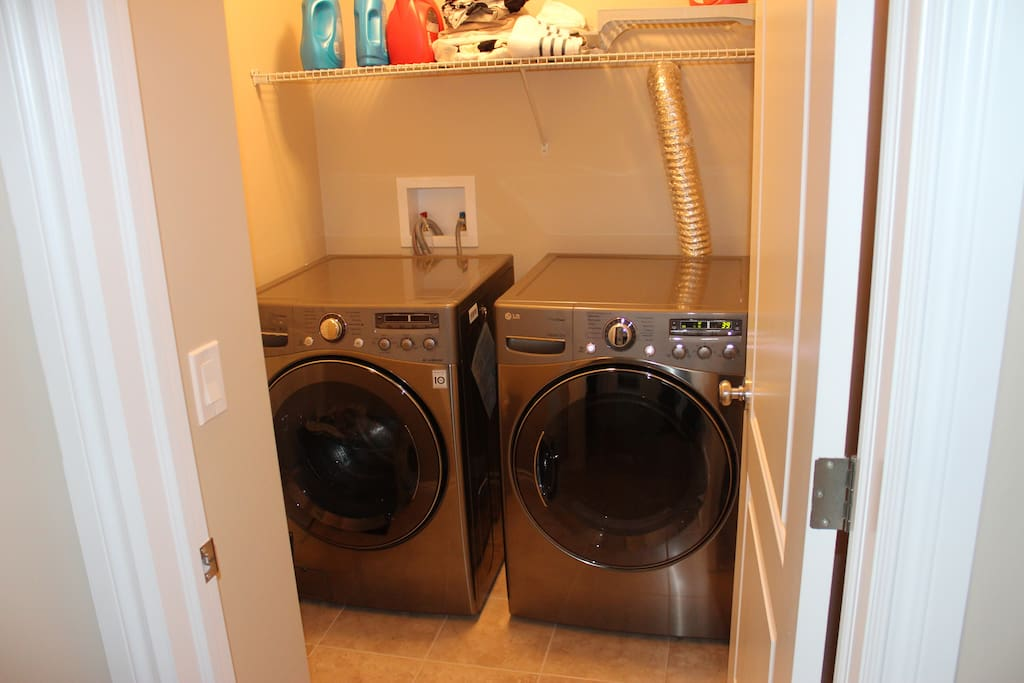 In case you need to use them, washer and dryer available.