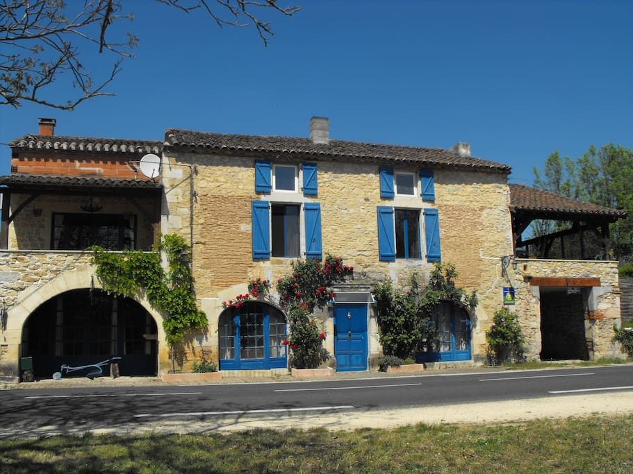 Front of House - Welcome to La Maison Bleue!!