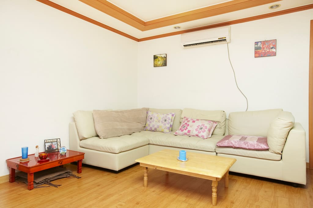 living room and air conditioner