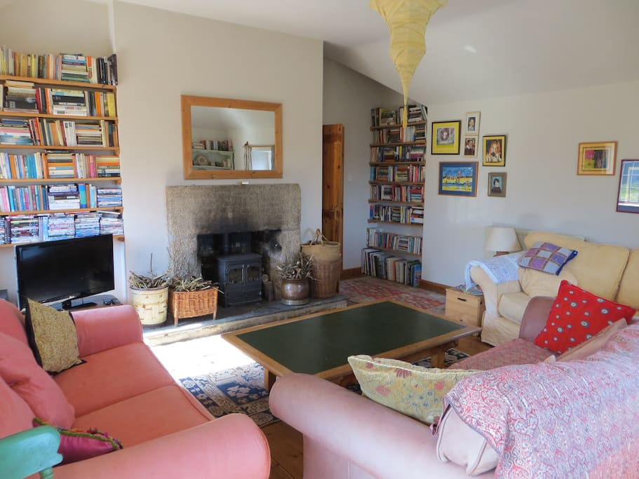 Sole use of a large sitting room with television, DVDs, board games, books and a fully stocked log fire. Breakfast is served in the dining area of the sitting room.