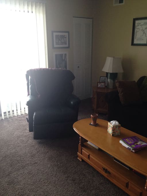 Living area with recliner chair