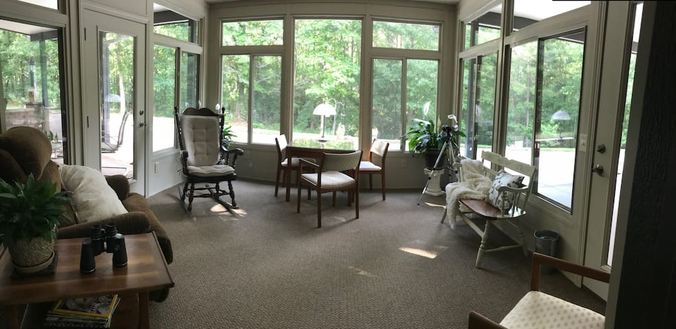 Bright and comfortable sunroom