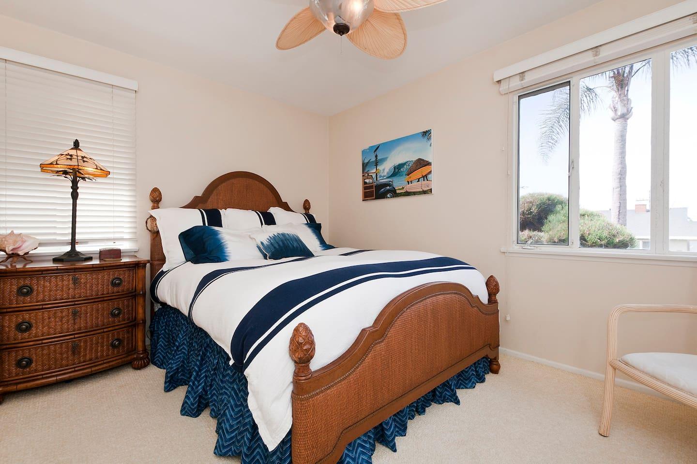 Good Vibe(ette) Welcomes You! California Inspired Designer Ralph Lauren Bedding, Feather Duvet & Pillow Top