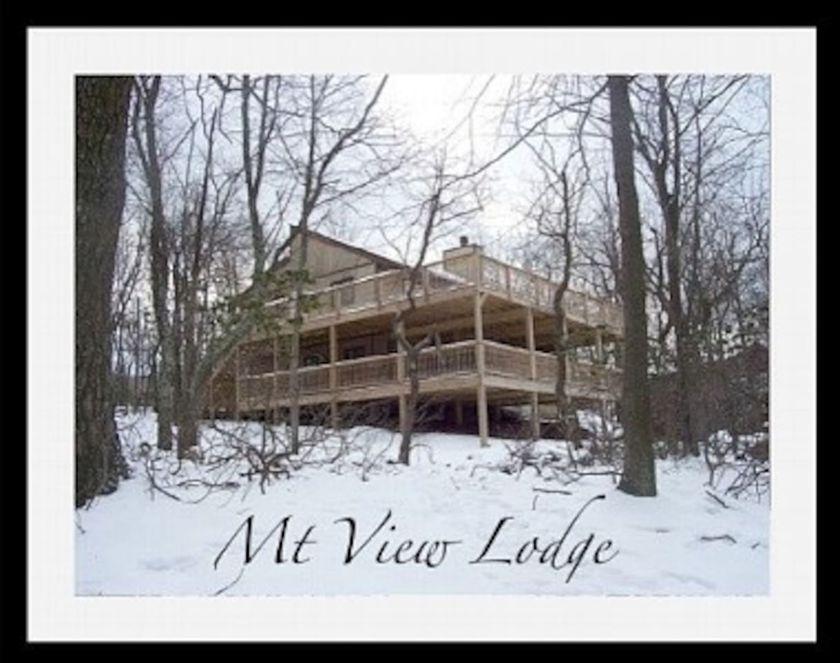 Mt View Lodge in winter
