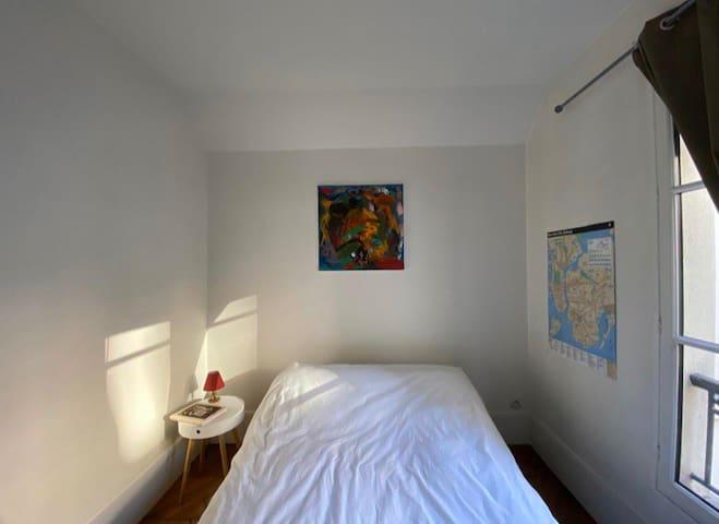 Central Parisian Bedroom on Rivoli Châtelet