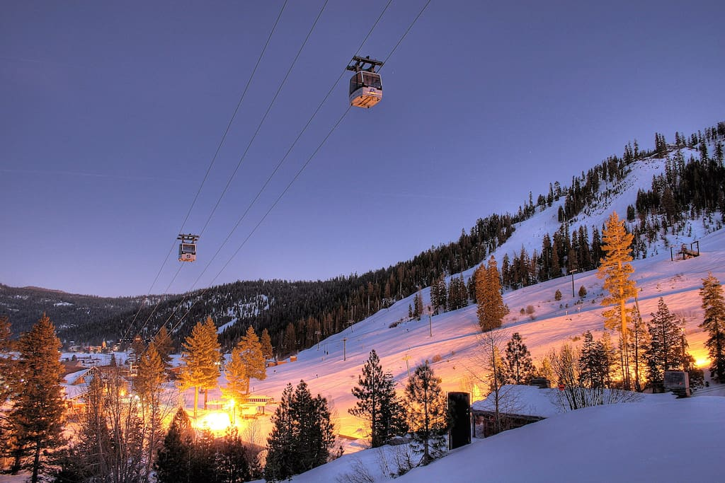 There are numerous dining and shopping options in The Village at Squaw Valley