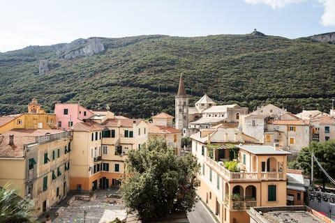 Ventana a uno de los pueblos más hermosos de Italia.