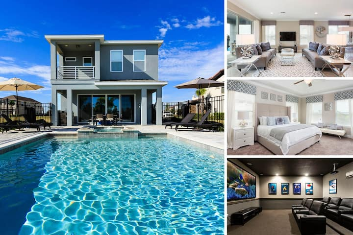 Luxury Living | 5 Bed Villa with Theater Room, Kids Bedroom, Private Pool
