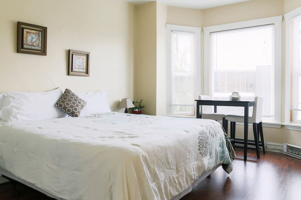 Beautiful natural light will brighten your day as you enjoy morning and afternoon sun!