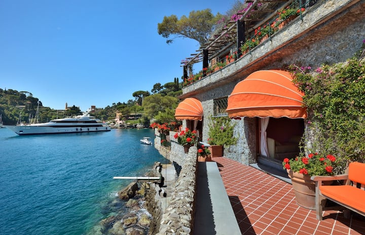 Villa Puddinga,Portofino,Private Beach,Boat &Staff