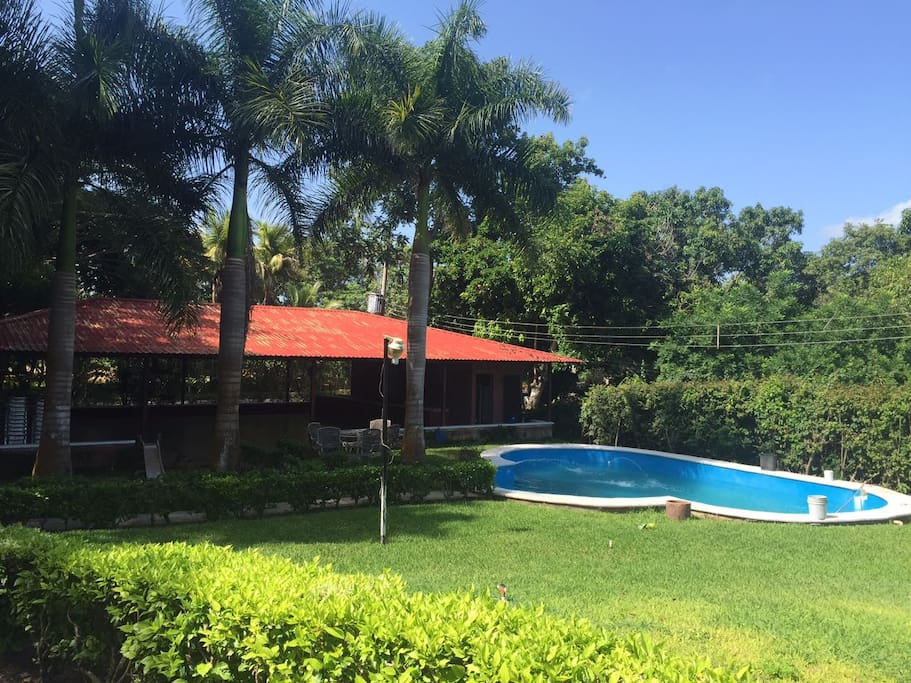 View to the Pool and Party/Function Area