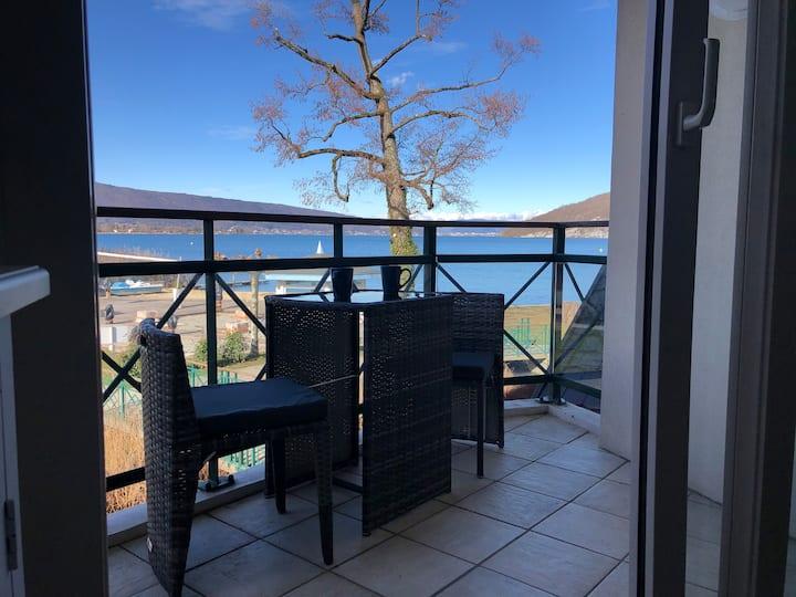 Cosy logement avec terrasse dominant le lac