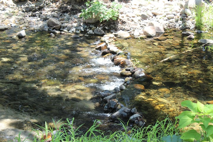 The sound of water! Low Flow - late summers.