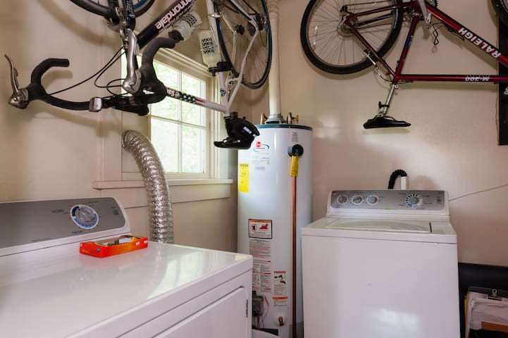 Utility Room with washer and dryer that you can use.