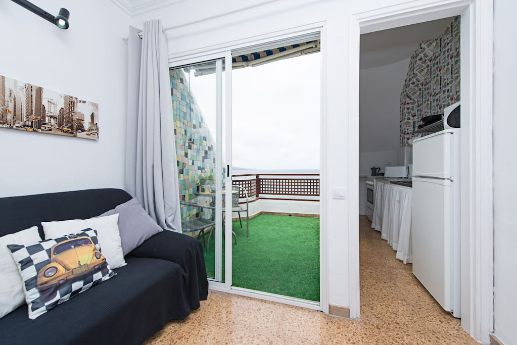 Flat-studio at Las Canteras with seaview