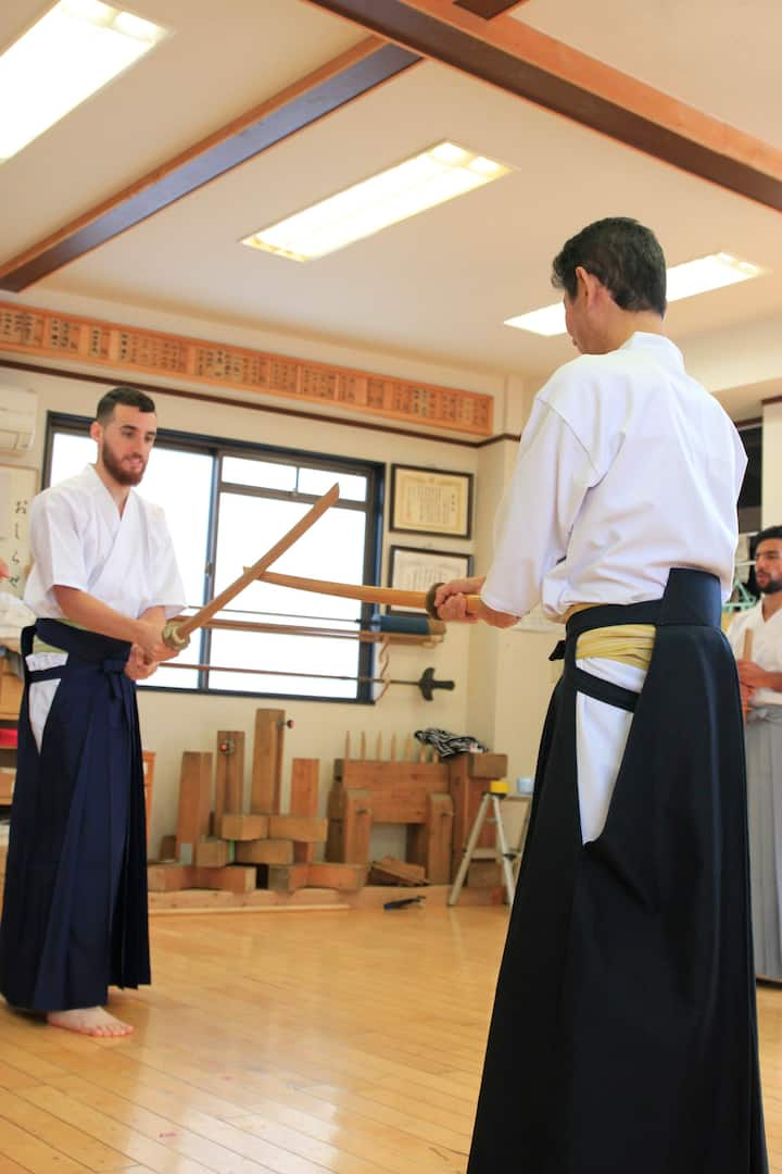 lesson how to use Sori part with Bokken