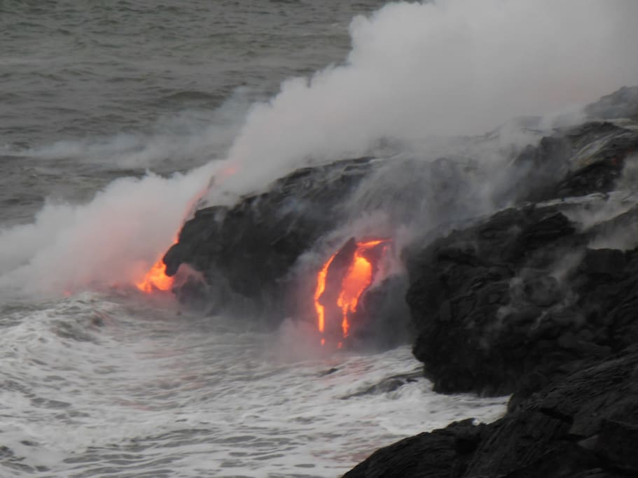 Take a close up and personal guided tour of the lava