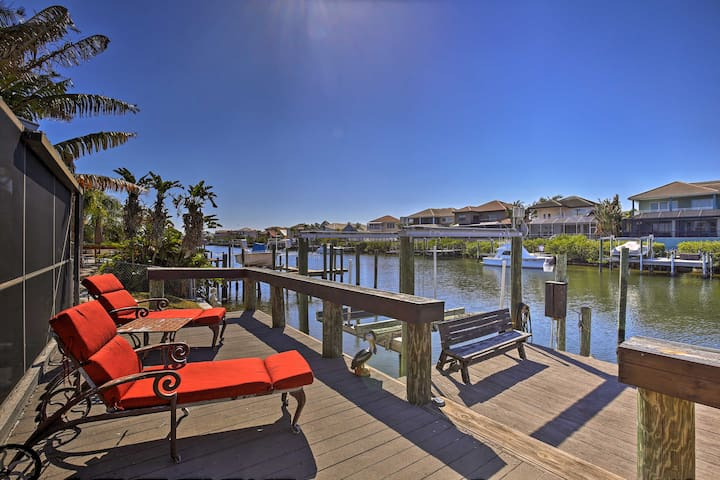 Tropical Apollo Beach House w/ Heated Pool & Dock!