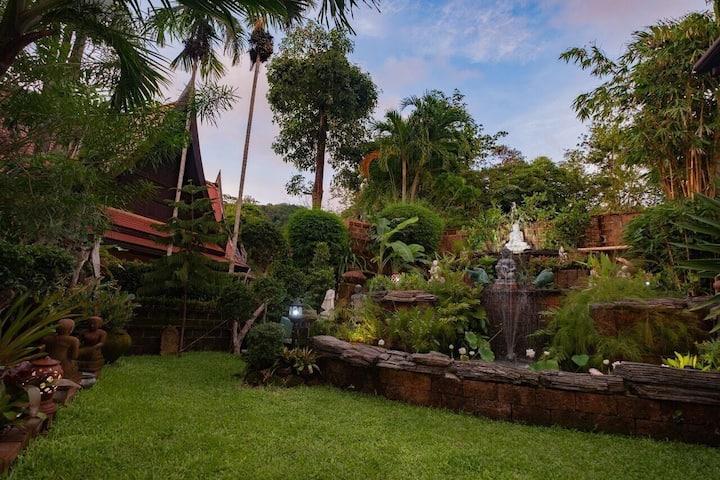 【HOOM】Villa Maëlle -奢华复古私密花园庭院 泳池房2卧~近奈卡 芭东海滩