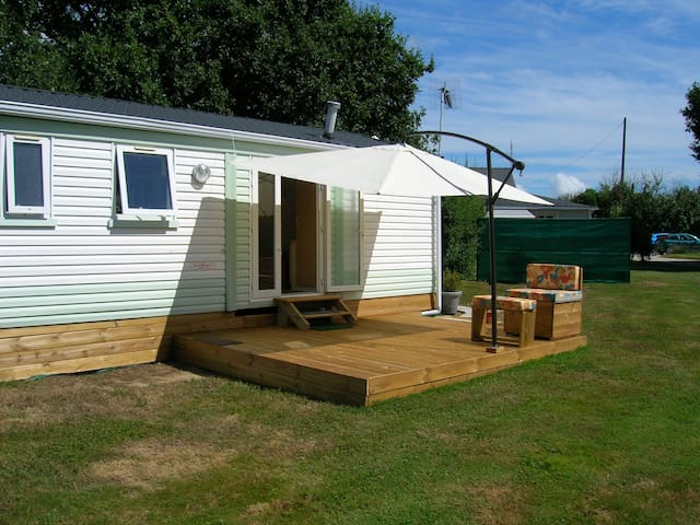 Mobil home sur propri t pornichet chalets for rent in - Vivre en mobil home sur terrain prive ...