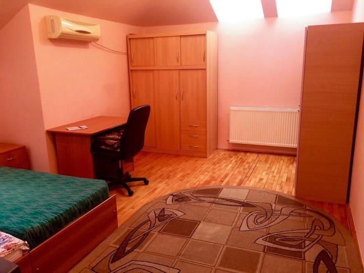 Întreg ap. cu 1 dormitor, bucătărie și baie, 35 mp