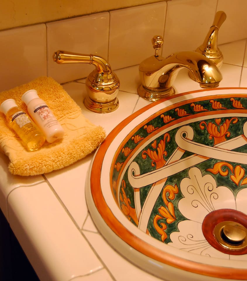A beautiful Italian basin in your remodeled private bathroom.