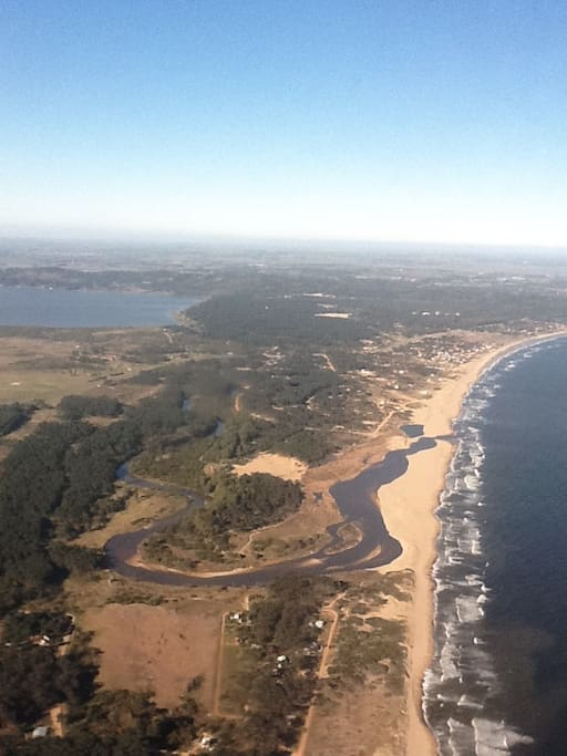 View of the Chihuahua Beach from the plane