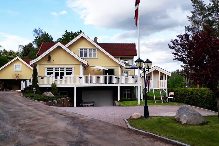 Beautiful spacious villa near Oslo&Lakes'mountains