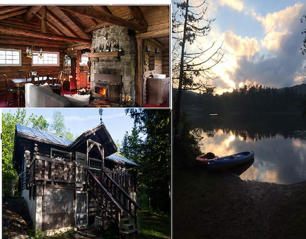 Bois rond & Lac Lakefront Loghouse - Sainte-Adèle - Lomamökki