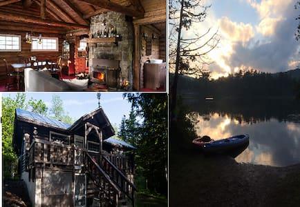 Bois rond & Lac Lakefront Loghouse - Sainte-Adèle