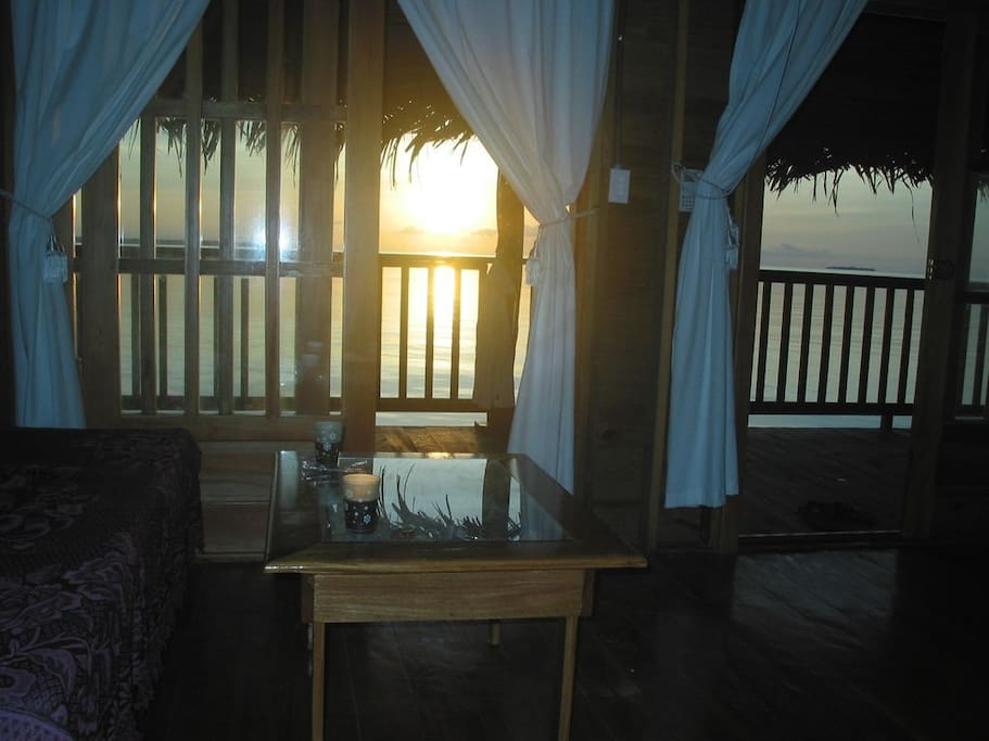 Sunset view from the living area.