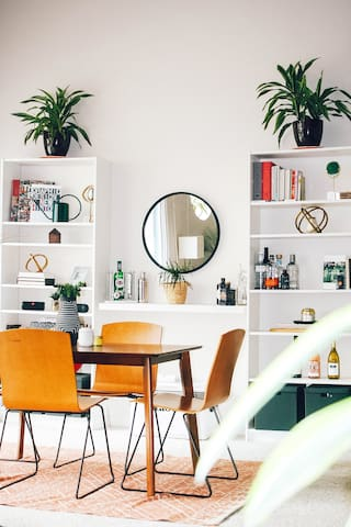 Clean, Bright and Airy Mid-Century Loft