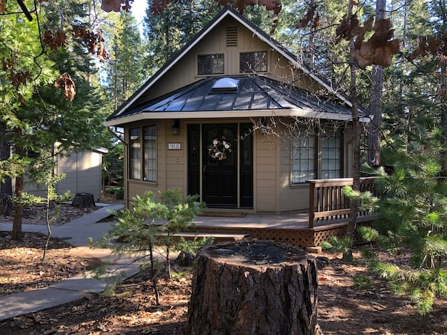 A KNOTTY PINE CABIN, corner lot and close to town